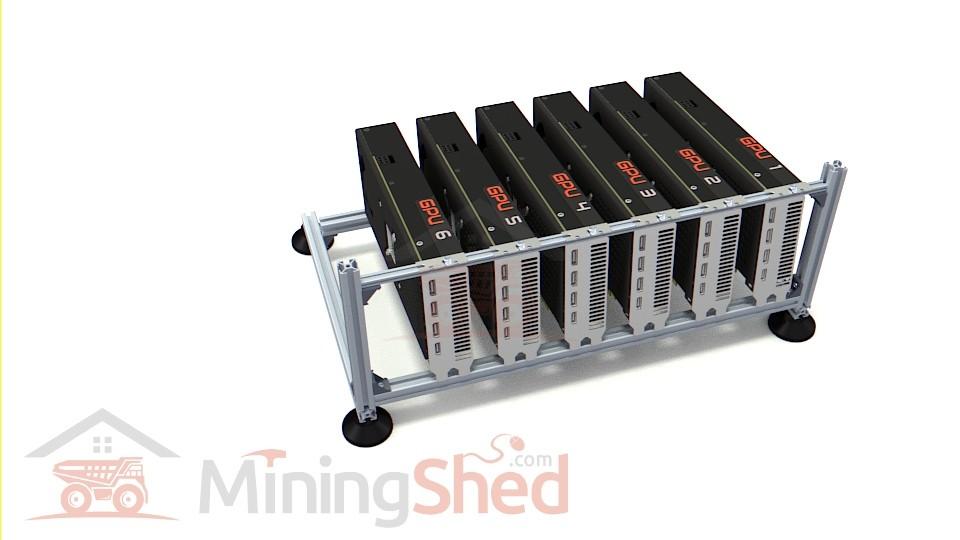 Aluminum mining frame – 6 GPUS